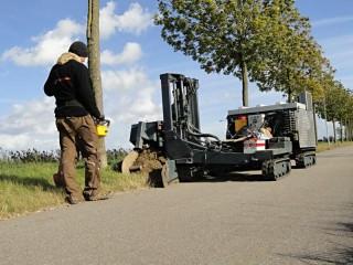 Automatická instalace kořenové bariéry č.3